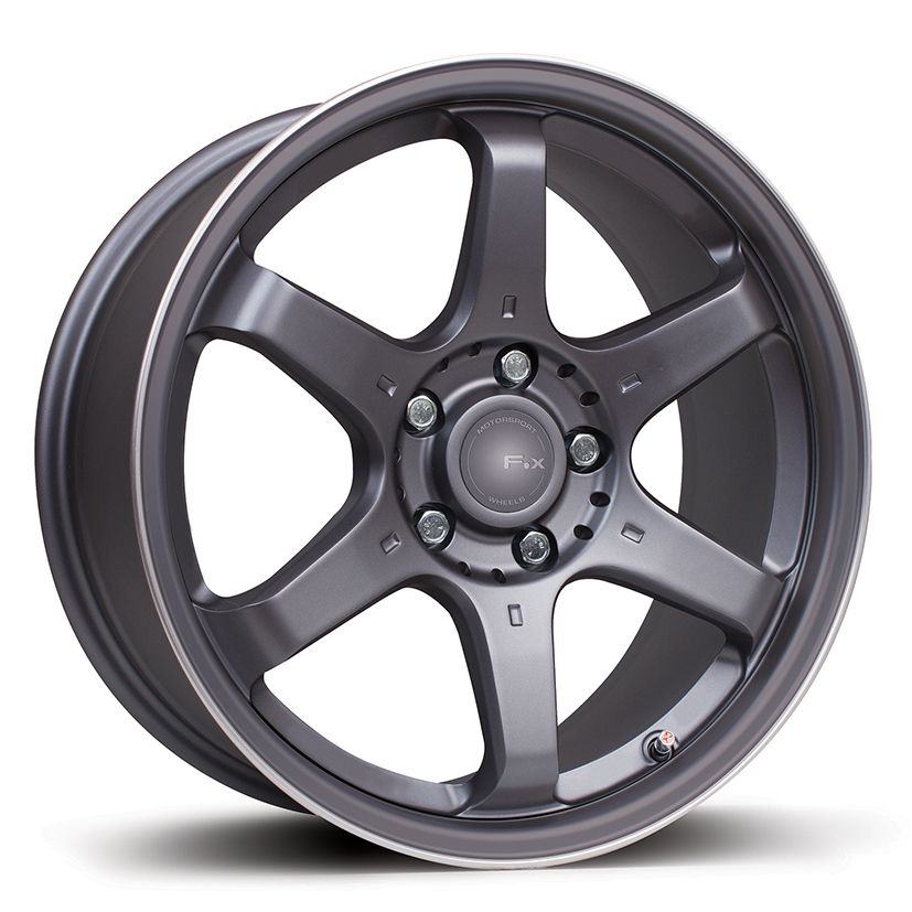 F.X MS006 - CARBON GREY WITH SILVER PIN-STRIPE | Alloy Wheels Leeds